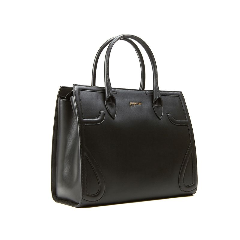 Icon bag in black nappa leather woman