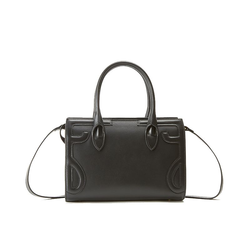 Mini Icon bag in black nappa leather woman