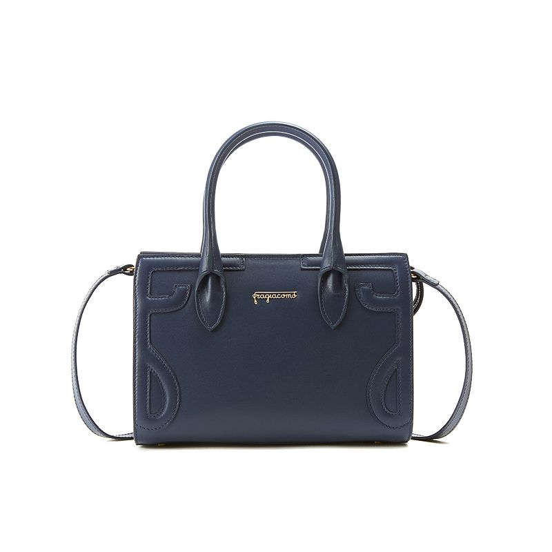 Mini Icon bag in blue nappa leather woman