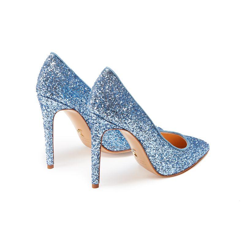 Décolleté azzurre in glitter, eleganti da donna, by Fragiacomo
