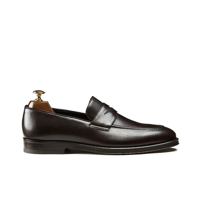94d3c6d017d Dark brown penny loafers - luxury made in Italy