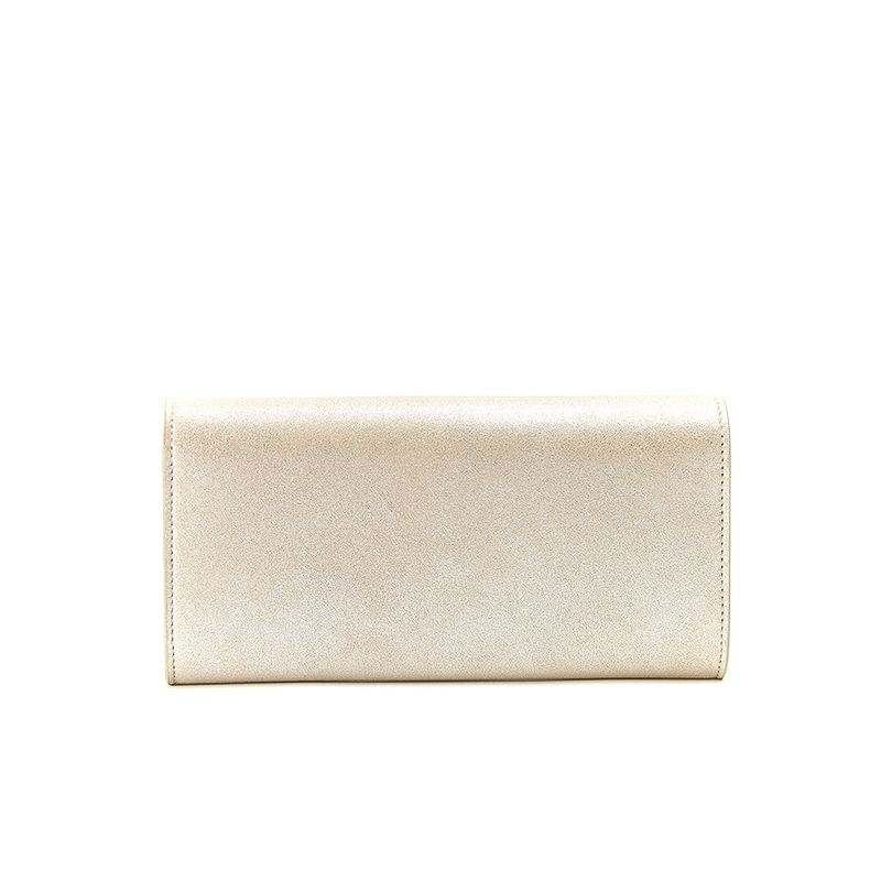 Gold burma leather woman's wallet  with gold accessories