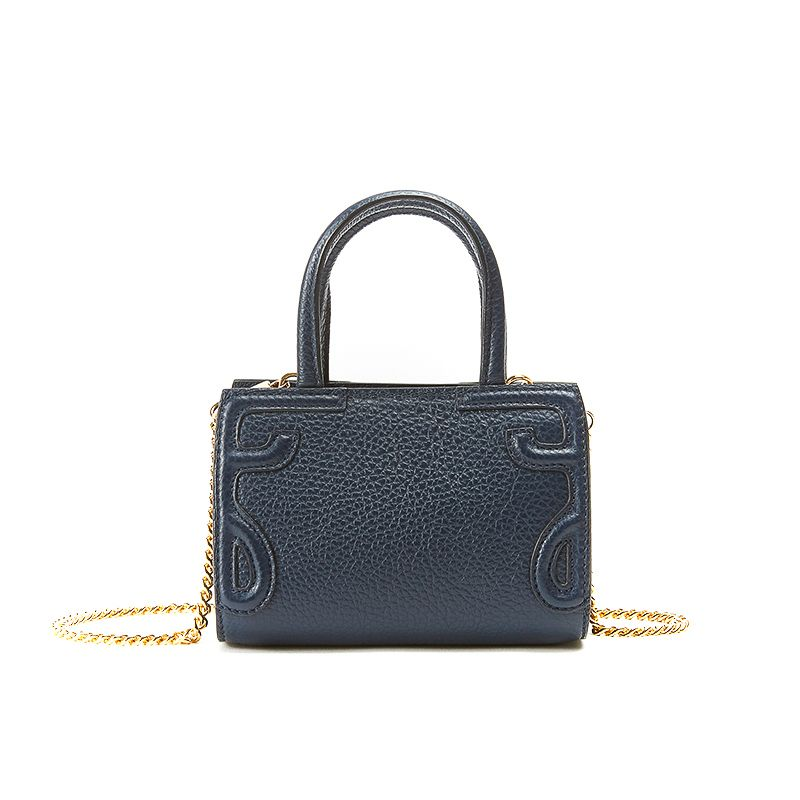 Micro Icon bag in blue moose leather woman