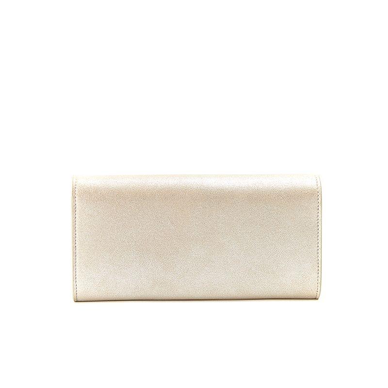 Portafoglio oro in pelle burma con cerniera e finiture oro da donna by Fragiacomo