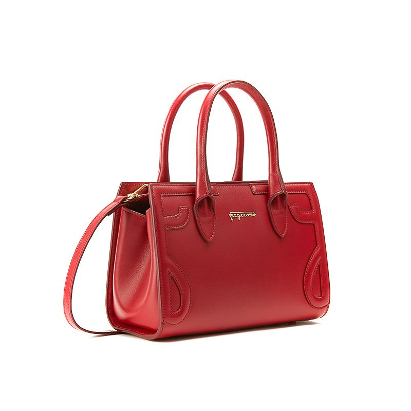 Mini Icon bag in red nappa leather woman