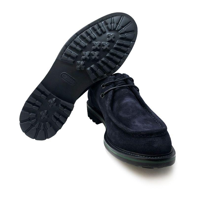 Scarpe paraboot in pelle di camoscio blu fatte a mano in Italia, modello da uomo by Fragiacomo