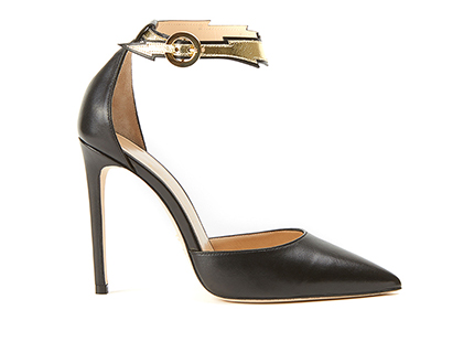 Flash pointed pumps in black nappa leather are luxury shoes handmade in Italy by Fragiacomo