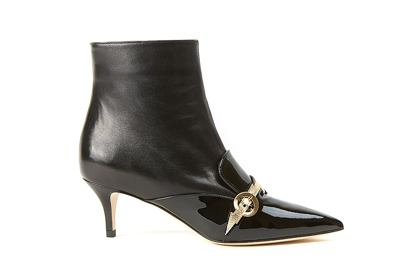 Black nappa leather Flash ankle boots