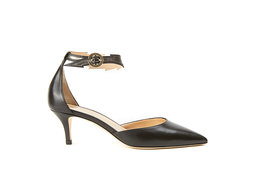 Black nappa leather Flash pumps