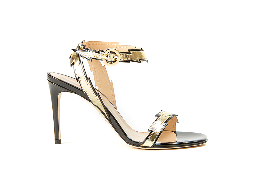 Gold nappa leather Flash sandals