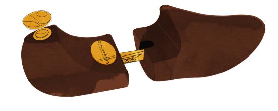 Tendiscarpe-legno