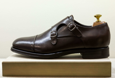 Dark-brown-monk-strap-shoes