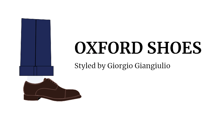 Illustration of a man's foot wearing dark brown Oxford shoe by Fragiacomo