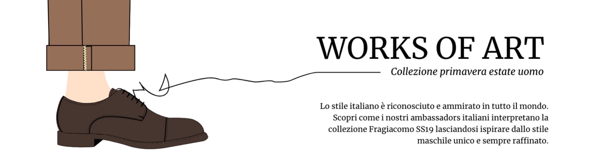 Illustrazione di una gamba da uomo che indossa una scarpa francesina color testa di moro by Fragiacomo works of art